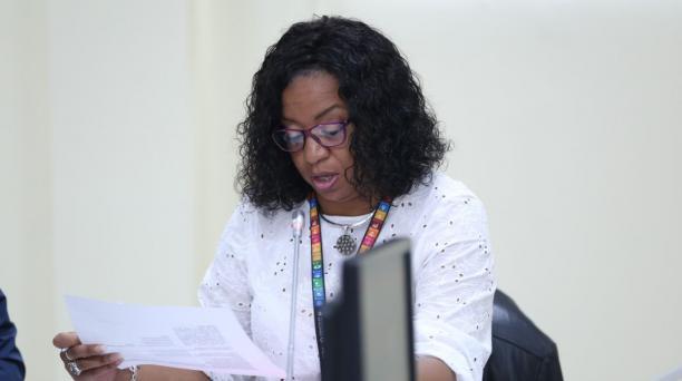 La directora del Servicio de Gestión de Riesgos, Alexandra Ocles, renunció a su cargo este 11 de mayo del 2020. Foto: Twitter