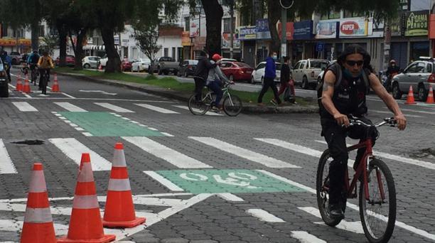 Los ibarreños están usando más las ciclorrutas que trazó el Municipio en la ciudad.