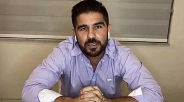 Dalo Bucaram Pulley dio una rueda de prensa virtual desde Miami, Estados Unidos, la noche del 7 de junio del 2020. Foto: captura