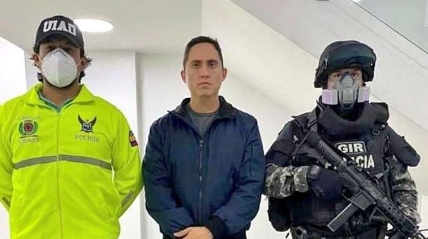 Legislador Daniel Mendoza está recluido en la cárcel 4 de Quito. Foto: Fiscalía