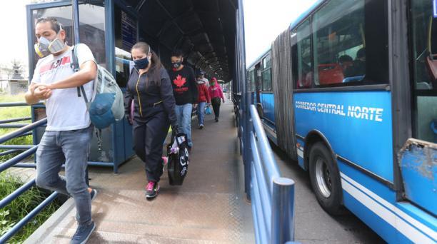 Usuarios se movilizaron en el Corredor Central Norte. Foto: Vicente Costales/ EL COMERCIO.