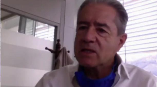 El ministro de Salud, Juan Carlos Zevallos, en rueda de prensa la mañana de este lunes 29 de junio de 2020. Foto: Captura