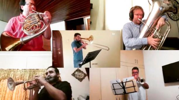 Músicos de la Orquesta Sinfónica de Guayaquil demostraron su talento.