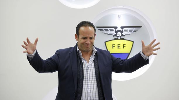 El presidente de la Federación Ecuatoriana de Fútbol, Francisco Egas, buscó acercamientos con los clubes y Asociaciones. Archivo/EL COMERCIO