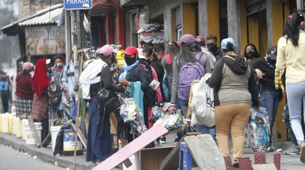 En la provincia de Pichincha se registra 11 079 casos confirmados de covid-19, 159 más que los reportados el martes 14 de abril, de los cuales 142 pertenecen a Quito. Foto: Eduardo Terán / EL COMERCIO