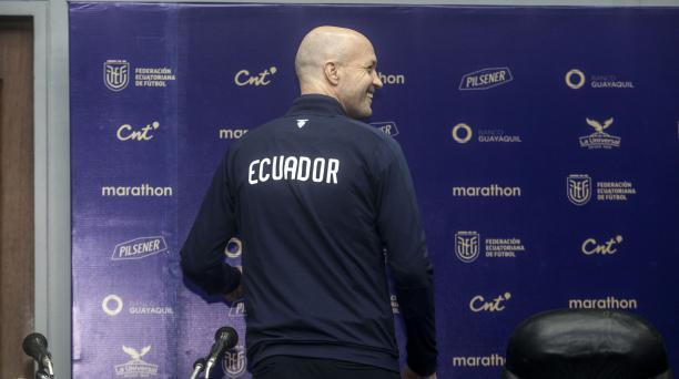 Jordi Cruyff el día de su presentación como entrenador de la Selección de Ecuador, en las instalaciones de la FEF, en Guayaquil. Foto: Archivo / EL COMERCIO