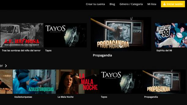 Dos plataformas de 'streaming' creadas en Ecuador se inauguran este año dando preferencia a la producción del Ecuador