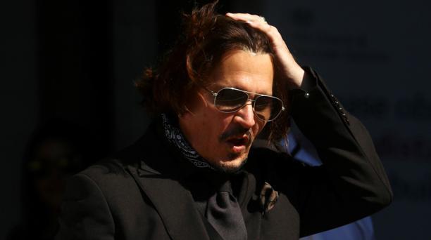 El actor Johnny Depp en el Tribunal Superior de Londres, Gran Bretaña, 22 de julio de 2020. Foto: REUTERS
