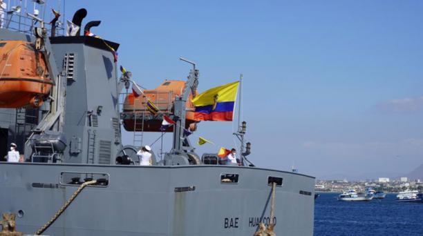 La embarcación de bandera china Fu Yuan Yu Leng 999, en cuyas bodegas se hallaron 300 toneladas de aletas y tiburones en el 2017, forma parte de la flota naval de la Armada del Ecuador. Foto: Cortesía Fuerza Naval
