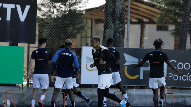 Un entrenamiento de Independiente del Valle en el Centro de Alto Rendimiento en Chillo Jijón. Cortesía de Independiente