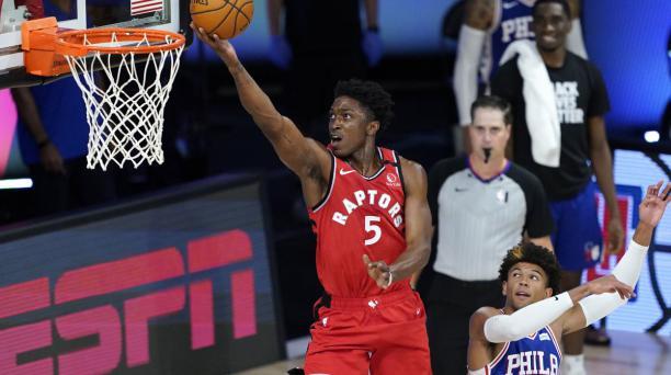 Los Toronto Raptors vencieron a los Philadelphia 76ers 125-121. Foto: AFP