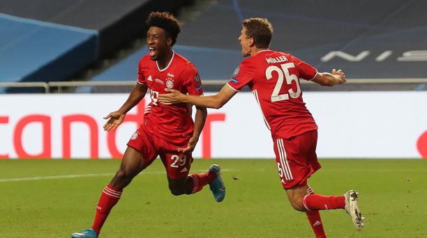 Kingsley Coman marcó el gol de Bayern ante su exequipo y le dio su sexta Champions League. Foto: AFP