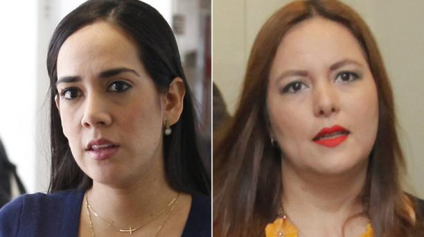 """Viviana Bonilla (izq.), asambleísta (exAP): """"Después de todo lo que me está pasando no quiero saber de política nunca más en mi vida. No me metí en política para esto"""". Johana Cedeño, asambleísta (AP): """"No existe ni en la Constitución ni en la Ley Orgánic"""