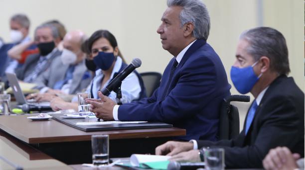 El presidente de la República, Lenín Moreno, felicitó la labor del COE en estos 6 meses.