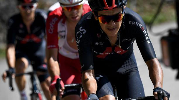 Richard Carapaz se metió por tercer día consecutivo en la fuga, este 17 de septiembre del 2020, para intentar ganar en la etapa 18 del Tour de Francia. Foto: AFP