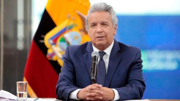 El presidente Lenín Moreno se dirigió al país en una Cadena Nacional este 4 de octubre del 2020.