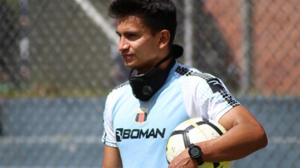 Luis Fernando Saritama fue uno se los refuerzos del Deportivo Quito en el torneo provincial del 2020. Tomado del Deportivo Quito
