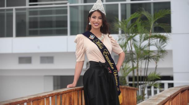 Leyla Espinoza dio sus primeras declaraciones a la prensa desde Manta.