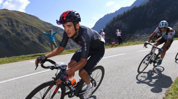 Richard Carapaz durante el recorrido de la primera etapa de La Vuelta a España. Foto: Team Ineos