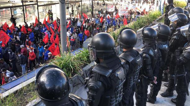 Así se desarrollan las manifestaciones en Quito este 22 de octubre