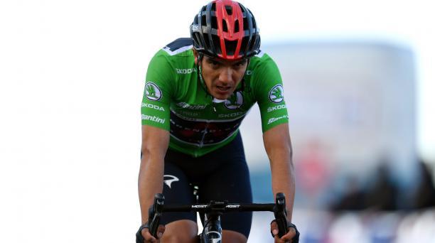 Richard Carapaz finalizará la Vuelta a España como el segundo mejor de la clasificación. Foto: Twitter del deportista