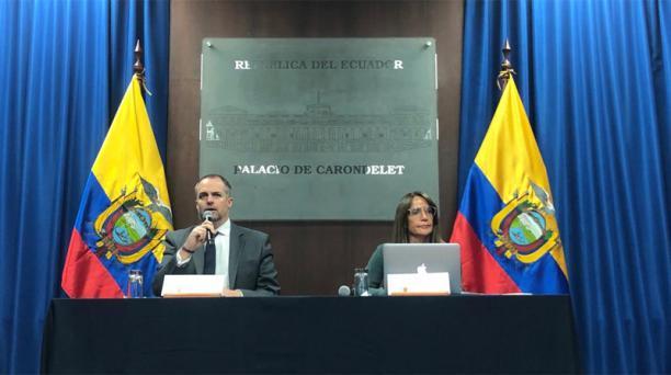 El ministro de Trabajo, Andrés Isch, en rueda de prensa, este lunes 30 de noviembre del 2020. Foto: Julio Estrella / EL COMERCIO