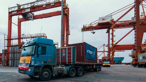 Transporte de material mineralizado de Lundin Gold, a cargo de Fruta del Norte. Foto: cortesía Lundin Gold