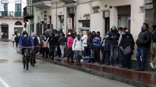 El Servicio Nacional de Gestión de Riesgos declaró al Ecuador en 'alerta naranja' debido a la pandemia del covid-19. Foto: Patricio Terán/ EL COMERCIO.