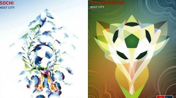 Afiches y estadios del Mundial de Rusia
