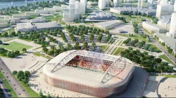 El estadio Spartak, está ubicado en la capital de Rusia, tiene capacidad para congregar a 47 000 hinchas.