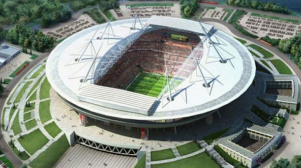 El estadio New Zenit, ubicado en la ciudad de San Petersburgo, tiene capacidad para 69 500 aficionados.