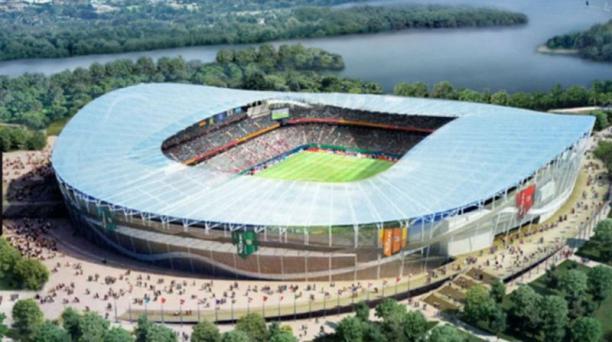 El estadio Rubin, ubicado en la histórica ciudad de Kasán, puede congregar a 60 000 aficionados.