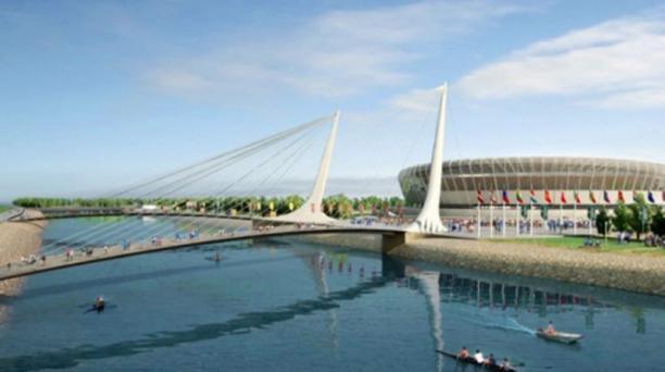 El Estadio de Nizhni Nóvgorod se ubicará en una zona deportiva junto al río Volga, en la que además se construirán hoteles y un club náutico. Se estima que podrá albergar a 45 000 aficionados.