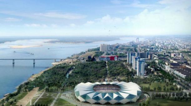 El estadio de la ciudad de Volgogrado puede congregar a 45 000 aficionados.