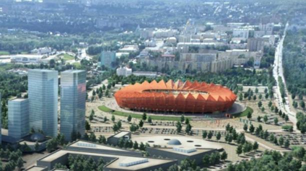 El estadio Yubileyniy, ubicado en la ciudad de Saransk, puede albergar a 45 000 seguidores.