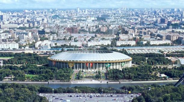 El estadio Luzhniki, de Moscú y con capacidad para albergar a 90 000 aficionados, será sede de un partido de semifinales y la final.