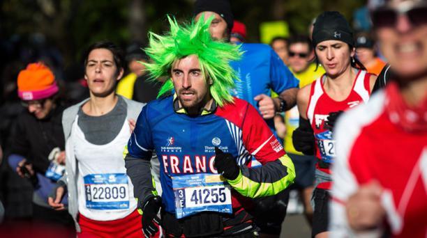 Las calles de Nueva york se vistieron de fiesta para vivir una nueva edición de la Maraton de Nueva York. Foto: AFP