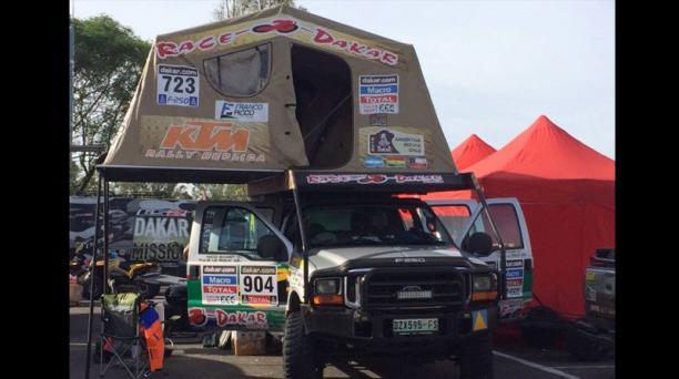 Los competidores del rally Dakar 2015. Foto: Tomada de Facebook Equipo Ecuador