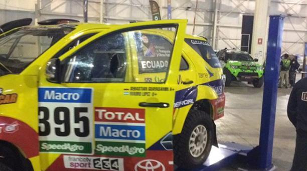 El automóvil ecuatoriano del Rally Dakar 2015