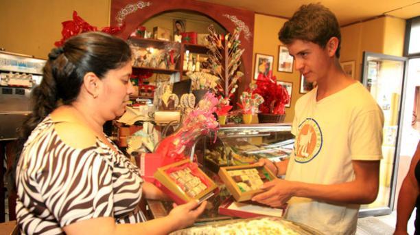 En Cuenca en la tienda Godika, Di Katy se prepara todo en Chocolate. Foto: Xavier Caivinagua/ EL COMERCIO.