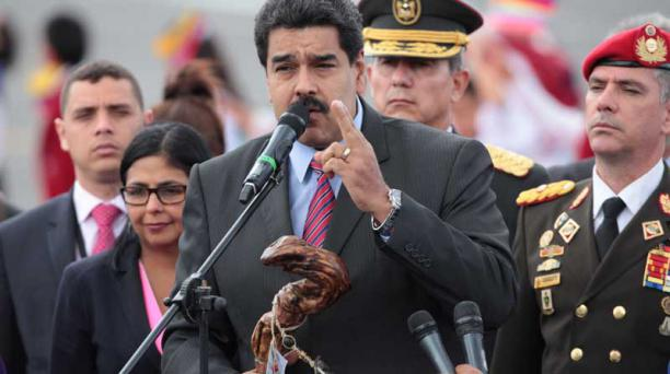 El mandatario venezolano, NIcolás Maduro, aseguró que buscará un acuerdo de paz con Colombia, pero que no dará ni un paso atrás en su medida del cierre de la frontera. Foto: Paúl Rivas/ EL COMERCIO