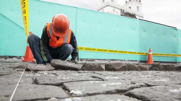 Las rocas fueron limpiadas, después de removerlas. Foto: Armando Prado/ EL COMERCIO