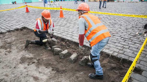 En el lugar descubierto se realizarán análisis arqueológicos, antes de iniciar la excavación. Foto: Armando Prado/ EL COMERCIO