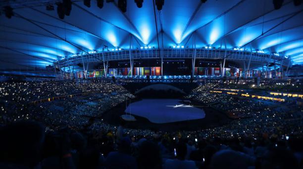 Vista al interior del estadio Maracaná, antes de la ceremonia inaugural de los Juegos Olímpicos Río 2016, el viernes 5 de agosto de 2016, en Río de Janeiro. EFE