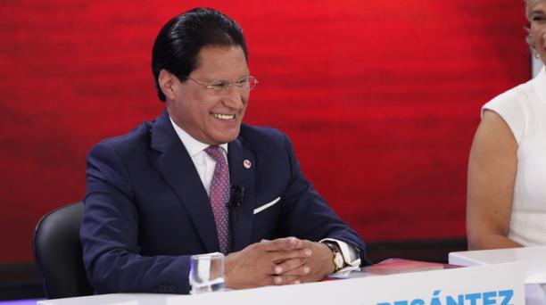 Washington Pesantez durante el Diálogo Presidencial 2017