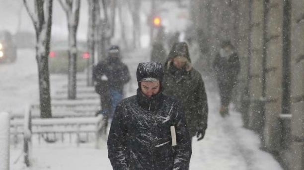 Nueva York cubierto de nieve