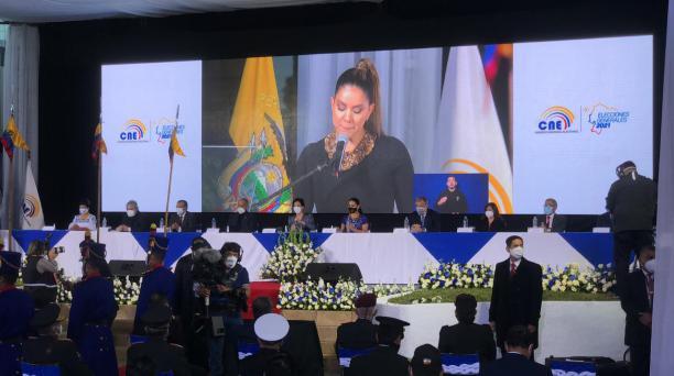 El Consejo Nacional Electoral (CNE) inauguró el balotaje este domingo 11 de abril del 2021. Foto: Julio Estrella / El Comercio