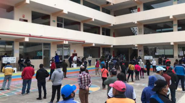 Sufragio en Riobamba. Foto: Cristina Márquez / El Comercio