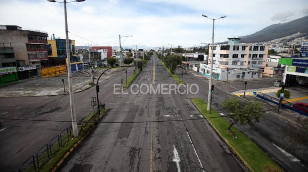 Imagen de la avenida Galo Plaza Lasso, en el norte de la capital. Foto: Julio Estrella/ EL COMERCIO