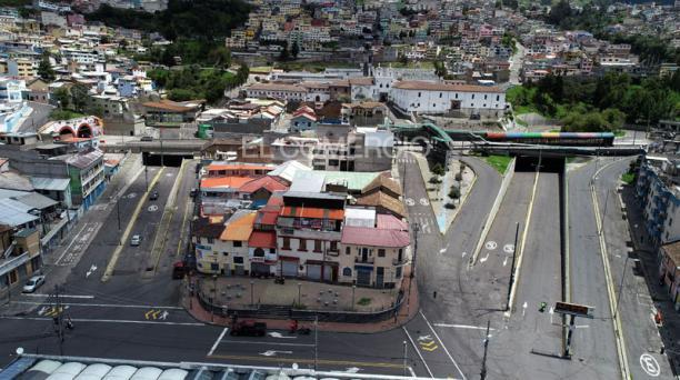 Sector de El Tejar y los túneles, en el Cetro Histórico de Quito. Foto: Diego Pallero/  EL COMERCIO
